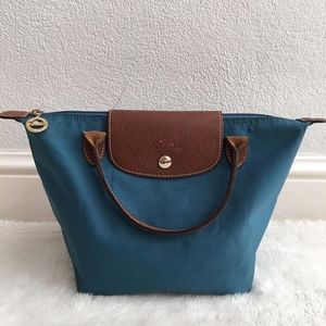 Longchamp Small Blue Tote Bag